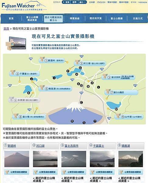 現在可見之富士山實景攝影機/FUJISANWATCHER