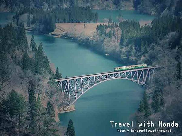 日本福島-只見線-第一只見川橋
