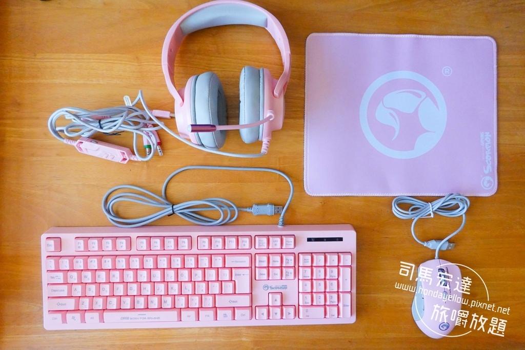 Marvo魔蠍電競-四合一粉紅電競套包-粉紅鍵盤滑鼠耳機滑鼠墊-5.jpg