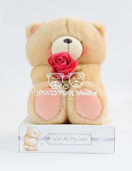 8吋單枝玫瑰熊 $1350.jpg