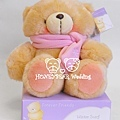 8吋粉圍巾熊 $1380