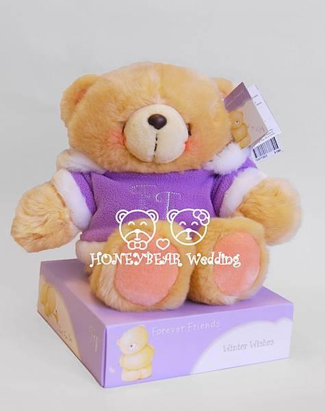 8吋紫色毛衣熊 $1380