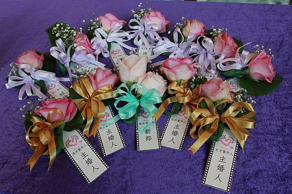婚禮佈置手工胸花客製化胸花