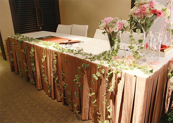 貓主題婚禮佈置收禮桌佈置