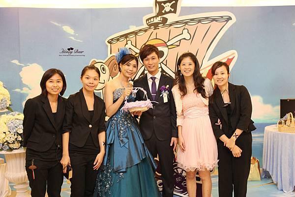 海賊王婚禮圓滿結束, 哈妮熊幸福團隊與吉民&苑淩也成為好朋友 --J&D航海情緣