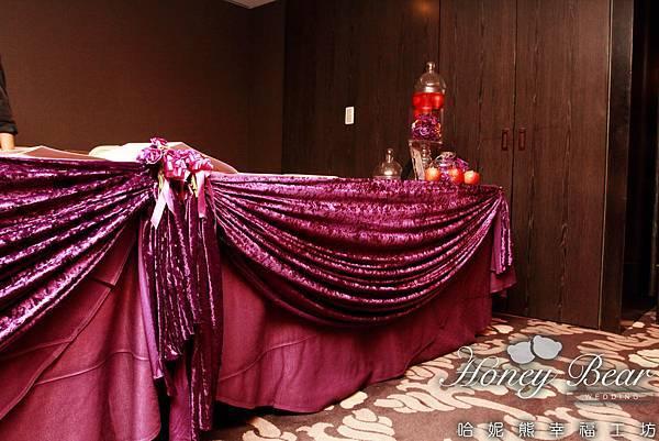 精緻拉紗讓收禮桌更為瑰麗 -- 吳影莊園