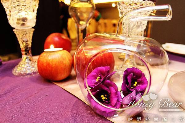 晶瑩剔透的蘋果花器-- 吳影莊園