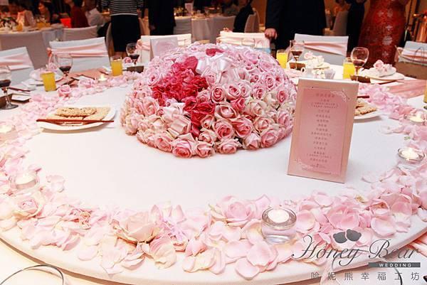 哈妮熊-楓中情緣婚禮佈置-主桌設計@國賓