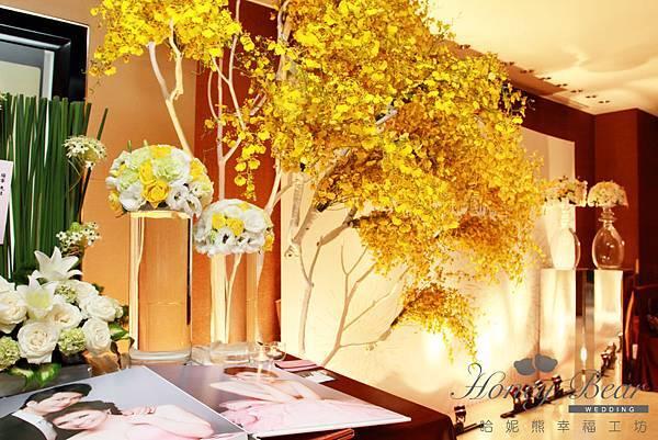 哈妮熊-璀璨時光。遇到愛~煙火主題婚禮,相本桌&蘭花樹@國賓