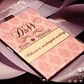 哈妮熊-璀璨時光。遇到愛~煙火主題婚禮-客製化票卡夾@國賓