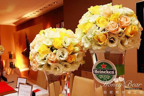 哈妮熊-海尼根精彩妳的人生 婚禮佈置-收禮桌
