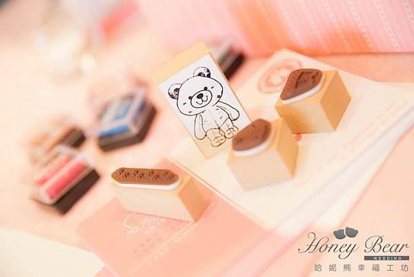 哈妮熊- 粉色 主題婚禮