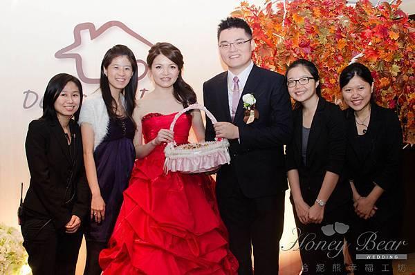 哈妮熊漫步主題婚禮-Dexter&Irene 白綠色清新風婚禮顧問團隊@國賓