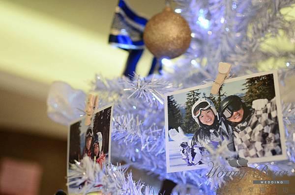 哈妮熊滑雪主題婚禮-文泰&彥如 相片聖誕樹@君悅 (23)