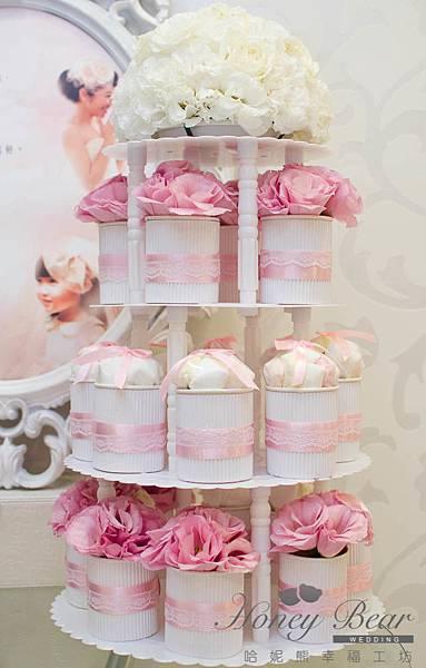 公主系列蛋糕塔-可愛的杯子棉花糖&杯子花