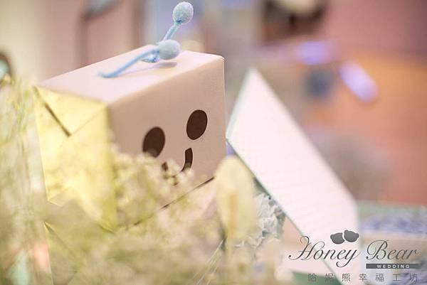 哈妮熊機器人婚宴佈置-工廠風祝福卡@宜蘭詩藝