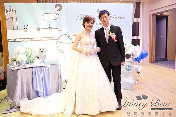 哈妮熊機器人婚禮佈置-工廠風主題區@宜蘭詩藝