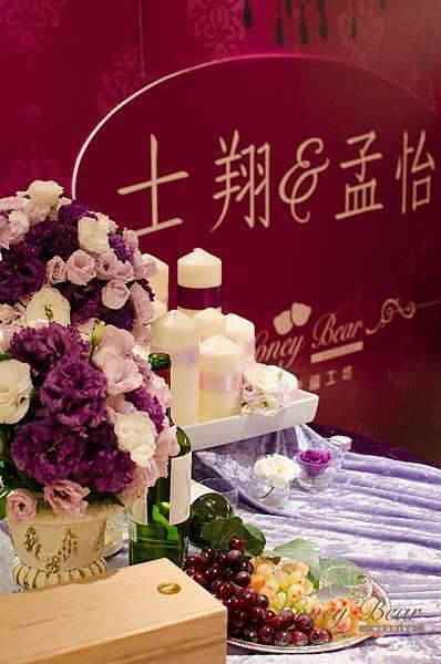哈妮熊紫色宮廷風婚禮佈置-3121