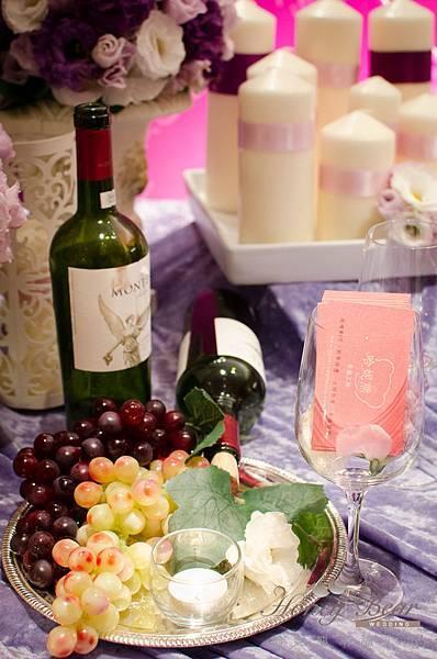 哈妮熊紫色宮廷風婚禮佈置-3208