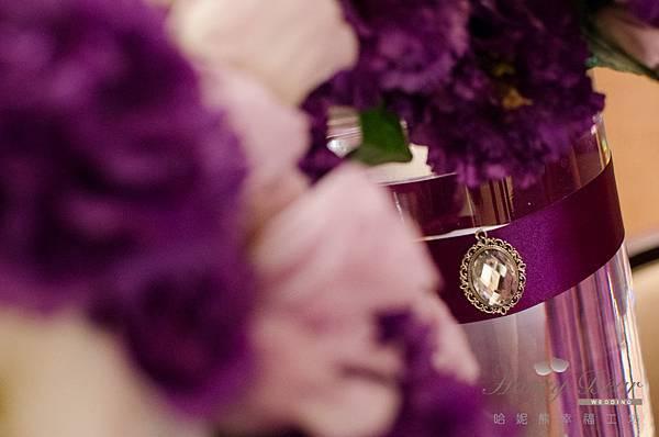 哈妮熊紫色宮廷風婚禮佈置-3215
