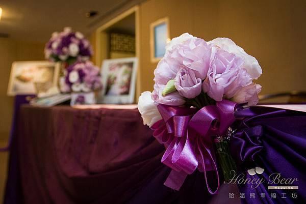 哈妮熊紫色宮廷風婚禮佈置-4933
