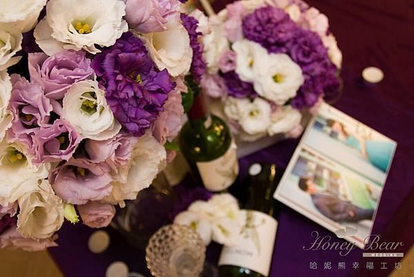 哈妮熊紫色宮廷風婚禮佈置-4940
