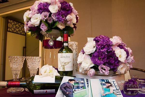 哈妮熊紫色宮廷風婚禮佈置-4945