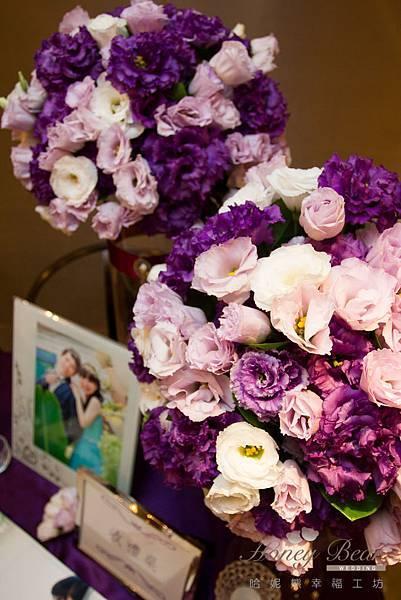 哈妮熊紫色宮廷風婚禮佈置-4971