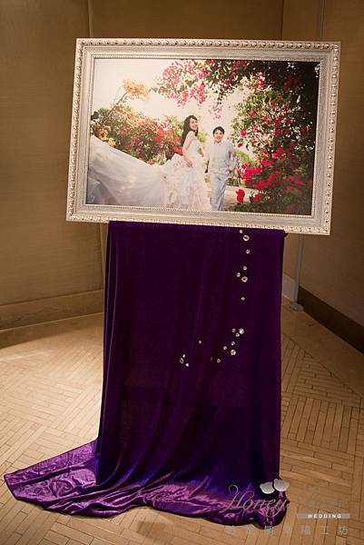 哈妮熊紫色宮廷風婚禮佈置-4973