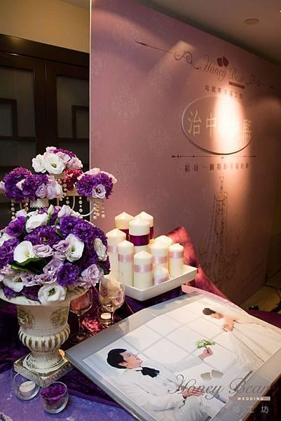 哈妮熊紫色宮廷風婚禮佈置-4982