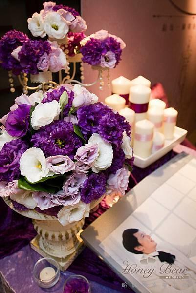 哈妮熊紫色宮廷風婚禮佈置-4985