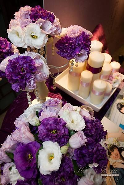 哈妮熊紫色宮廷風婚禮佈置-5006