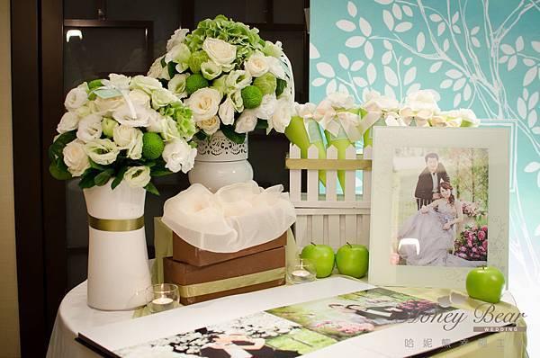 哈妮熊白綠色清新風婚禮佈置@國賓-7.jpg