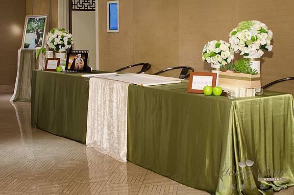 哈妮熊白綠色清新風婚禮佈置@國賓-17.jpg
