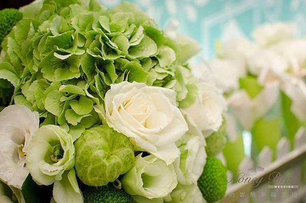 哈妮熊白綠色清新風婚禮佈置@國賓-10.jpg
