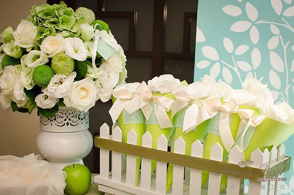 哈妮熊白綠色清新風婚禮佈置@國賓-12.jpg