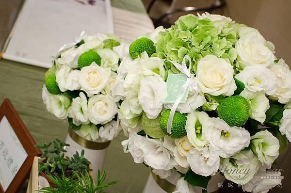 哈妮熊白綠色清新風婚禮佈置@國賓-19.jpg