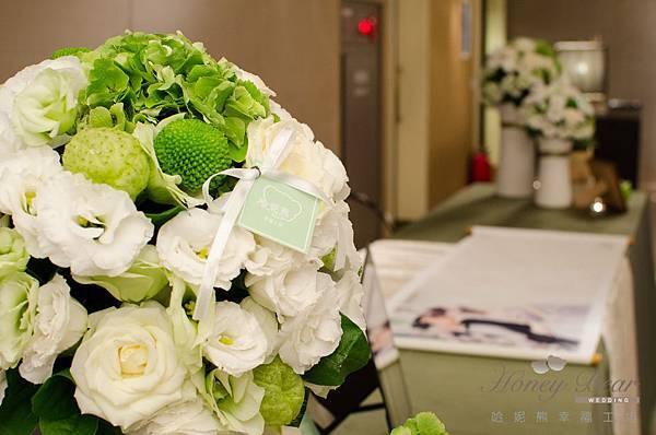 哈妮熊白綠色清新風婚禮佈置@國賓-27.jpg