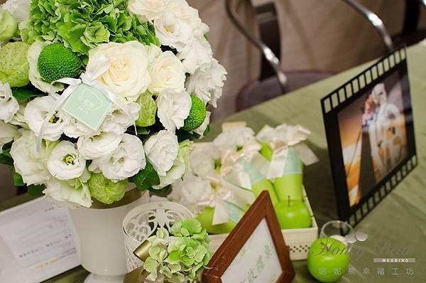 哈妮熊白綠色清新風婚禮佈置@國賓-25.jpg