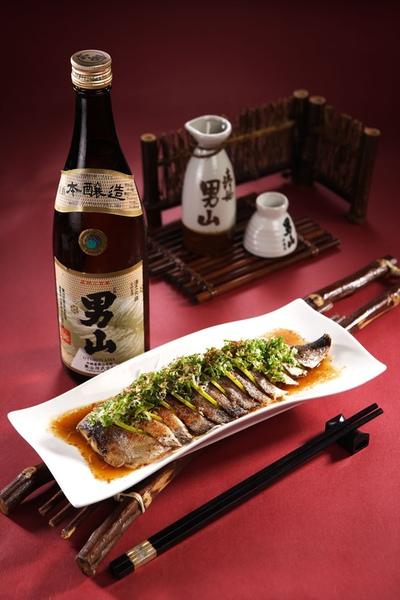 果醋鯖魚+男山本釀造