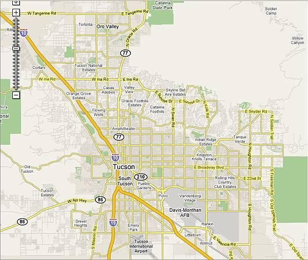Tucson whole map