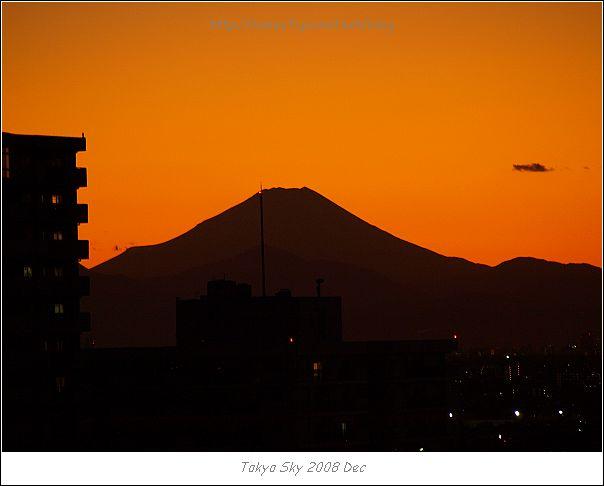 夕陽與富士