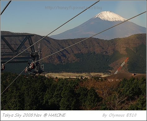 纜車中的富士山
