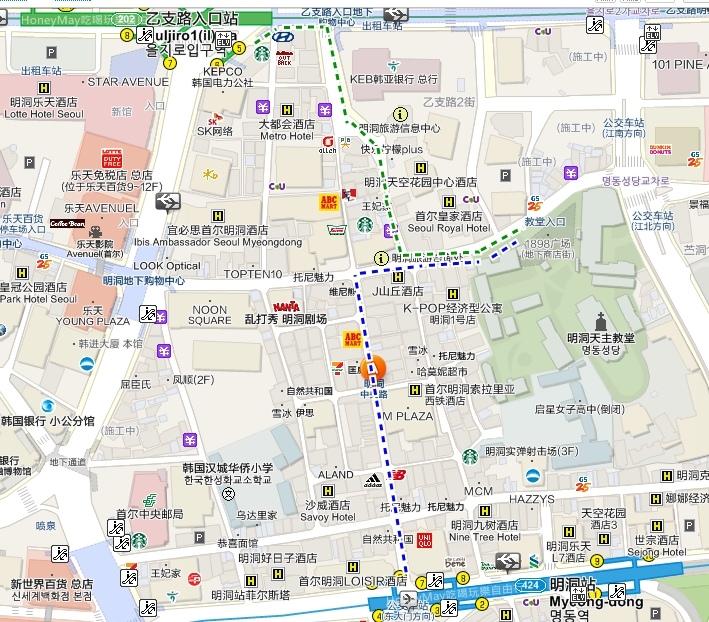 明洞聖堂map