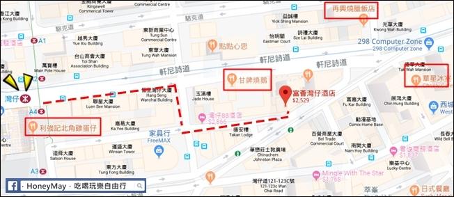 20181022-25 富薈灣仔酒店map