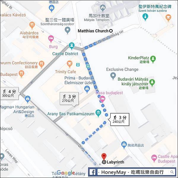 20181113 布達地下迷宮MAP