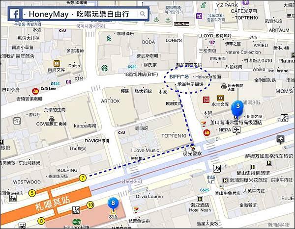 元祖甜餅-map