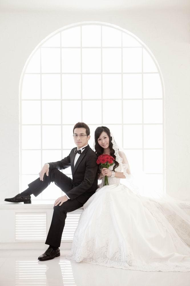 這張被拿來當結婚喜帖照