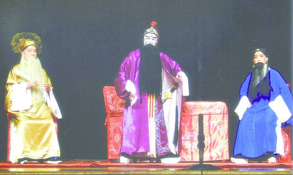 10_《捉放曹》劇照,盛金慧飾曹操(中)、朱采容(右)飾呂伯奢