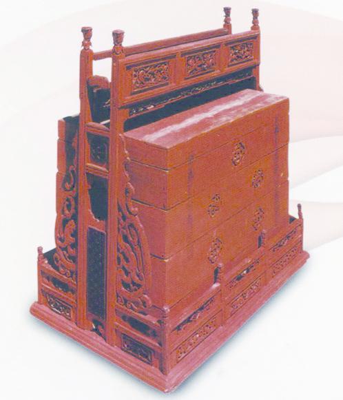 4_紅板箱、扛箱、百寶箱、鳳首面盆架